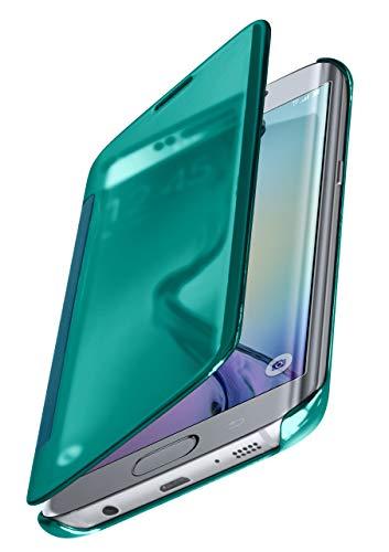 MoEx® Funda Protectora Fina Compatible con Samsung Galaxy S6 Edge   Cristal Tintado Transparente, Turquoise