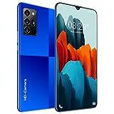 Teléfonos Celulares Note20 Pro (12 + 512GB) 7.6'HD + 24 MP Cámara Frontal, Teléfono Dual Sim Desbloqueado 5G + Teléfono Inteligente con Navegación GPS,Azul
