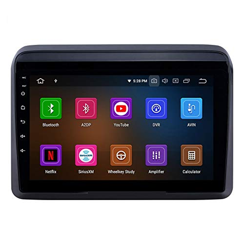 Auto Snap 9 Inch Full HD 1080 Touch Screen Double Din Player Android 10.1 Gorilla Glass IPS Display Car Stereo with GPS/Wi-Fi/Navigation/Mirror Link Compatible for New Ertiga Free 8 LED Camera