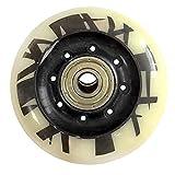 TGHY Rueda para Patínes En Línea Rodamientos ABEC-9 Instalados Ruedas De Repuesto De PU 85A para Patinaje Callejero 72 mm 76 mm 80 mm Paquete De 8,80mm