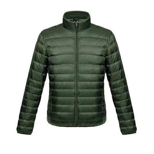 90% witte donsjack, Light Slim vest met korte kraag for heren, herfst en winter jas, 5 kleuren stijlen, 1 * opbergtas (Color : Light gray, Size : M)