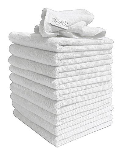 EXEL 10Stück original weiß Super Magic Flusenfreie Mikrofaser-Reinigungstücher für polieren, Waschen, Wachsen und Staubwischen.