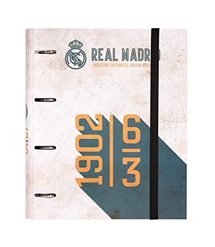 Carpeta 4 anillas troquelada premium Real Madrid vintage collection