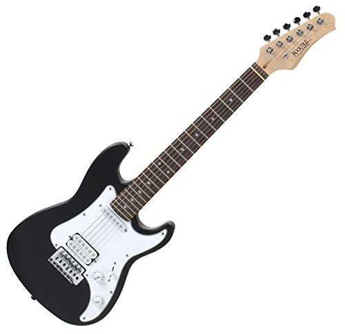 Rocktile Sphere - Guitarra eléctrica infantil, 3/4, color negro