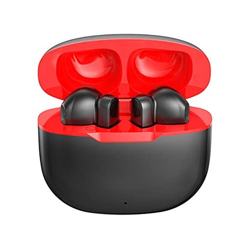 Auriculares Estéreo, TWS Auriculares Estéreo Micrófono Incorporado Con Carcasa Metálica Y Incorporado MIC Para Gimnasio En Marcha Entrenamiento Hogar Ejercicio Reducción De Ruido Auricular,Negro
