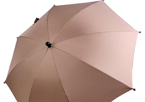Poussette Parapluie Coque pour protection de soleil et pluie Kaki