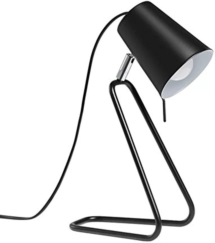 Moderne Minimalistische Schreibtischlampe Gemalt Schwarz Schmiedeeisen Tischlampe Einstellbar Arbeiten Lesen Schreibtischlampe,Φ19cm H31.5cm E14
