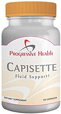 Capisette Fluid Support: Natural Diuretic (Water Pills) for Edema, Lymphedema, and Water Retention - Helps Reduce Swelling in Feet, Ankles, and Legs - Includes Potassium, Horse Chestnut, Hawthorne berry, and Dandelion Root - Dietary Supplement (60 capsule