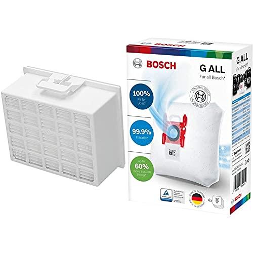 Bosch BBZ156HF Filtro HEPA para aspiradora BGL35 + BBZ41FGALL Bolsas PowerProtect Bolsas para aspirador tipo G All