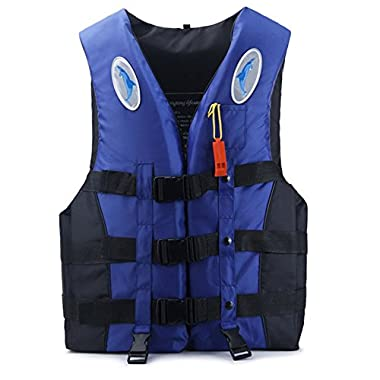 Sportstorm Life Vest for Adults Kids Women Men PFD - Snorkel Vest Life Jacket Buoyancy Aid Water Sports Swimming Boating Kayaking + Whistle(Medium Blue)