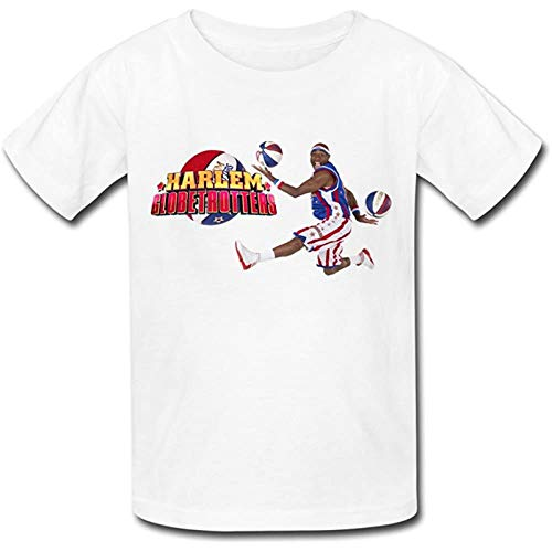 JINGUI The Harlem Globetrotters World Tour T Shirt for Big Boys' Girls' White White XXL