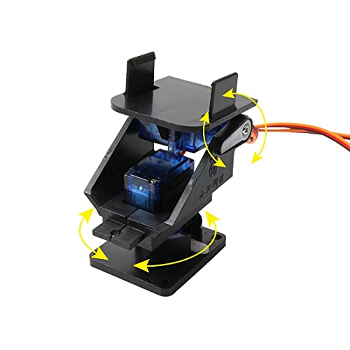 Mini Pan/Tilt Camera Platform Anti-Vibration Camera Mount w/ 2 Servos Aircraft FPV