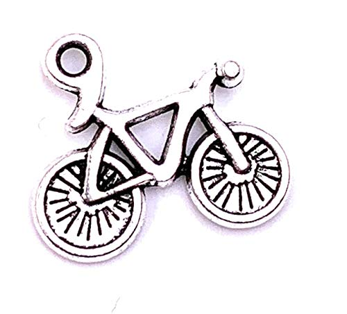 H-Customs Fahrrad Bike klein Charm Anhänger Kettenanhänger Bastelbedarf Schmuckzubehör