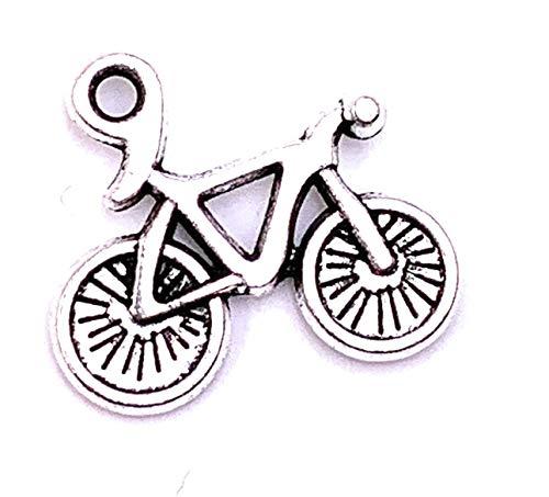 H-Customs Bici da Bicicletta Piccolo Pendente a Catena Pendente Accessori Artigianali per Gioielli