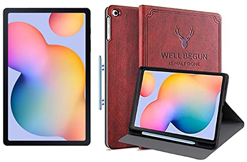 Samsung Galaxy Tab S6 Lite 26.31 cm (10.4 inch), S-Pen in Box, Slim and Light, Dolby Atmos Sound, 4 GB RAM, 64 GB ROM, Wi-Fi+LTE,Oxford Grey + Cover