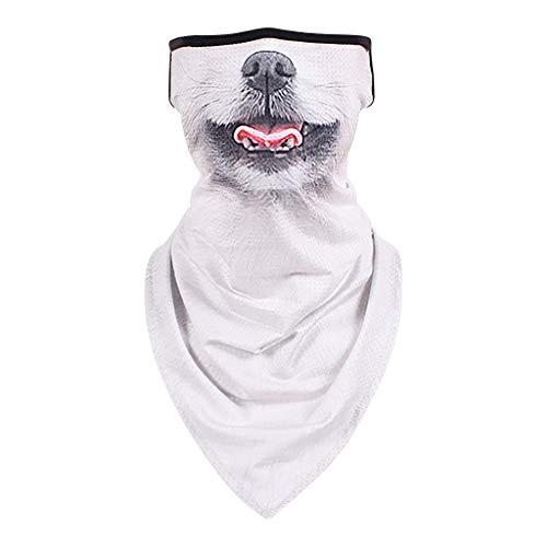 KPILP Leichtes Atmungsaktiv Schlauchschal Schlauchtuch Tiermotiv Wrap Warm Neck Gaiter Bandana Winddicht Kopfbedeckung Stirnband Unisex