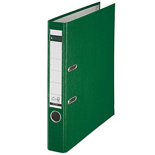 Leitz 10155055 Qualitäts-Ordner (Plastik-Cover, A4, 5,2 cm Rückenbreite) grün