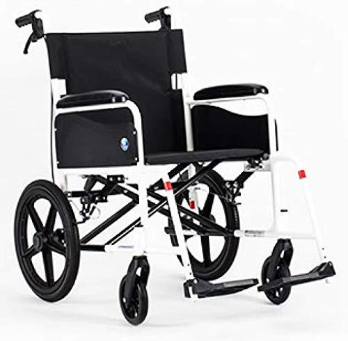 JYHJ Silla de ruedas ergonómica, ultraligera, plegable, ligera, portátil, pequeña y simple, silla de ruedas para ancianos, A, A, color: B (color: A)