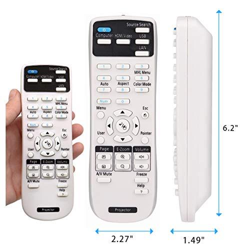 Aimple - Mando a Distancia para proyector Epson EH-TW6600 EH-TW7200 EH-TW7300 EH-TW7400 EH-TW8100 EH-TW9300W EMP-TW700