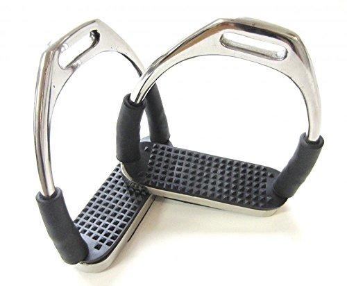 PS Pferdeartikel 1 Paar Sicherheits-Steigbügel mit Gelenken - Silber