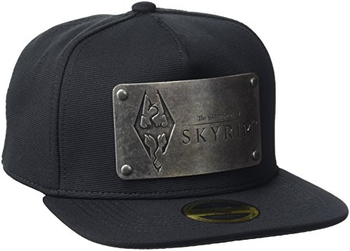 Meroncourt Unisex The Elder Scrolls Skyrim Dovakiin Metal Logo Plate Snapback Baseballkappe, Schwarz (Black), One Size
