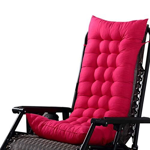 Marbeine - Cojín de Asiento para sillas, sillones o tumbonas de jardín, terraza Gruesa para Exterior, Funda de 125 x 48 x 8 cm, Fucsia