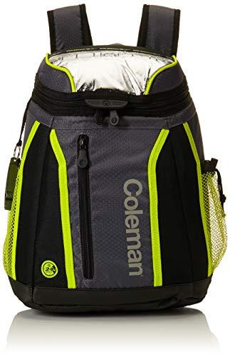 Coleman Maverick Ultra 18 Can Backpack Soft Cooler, Black/Lime