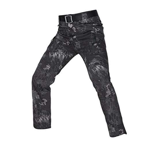 YuanDian Hombre Tactico Camuflaje Pantalon Multi-Bolsillo Outdoor Caminar Combate Pantalon Trekking Alpinismo Caza Camping Senderismo Militar Camo Cargo Pantalones