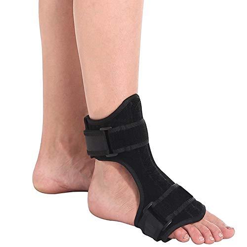 Fallfuß Corrector, Fuß Orthesen Brace Splint Unterstützt Fußklammer, Einstellbare Nachtschiene für Schlaf-Unterstützung, effektive Entlastung von Achilles Tendon, Tropfen Fuß, Fersensporn, Knöchel,1