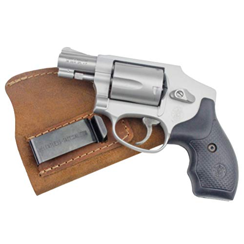 Relentless Tactical The Ultimate Suede Leather IWB Holster - Made in USA - Fits Most J Frame Revolvers - Ruger LCR - Smith & Wesson Body Guard - Taurus & Most .38 Special Type Guns - Brown LH