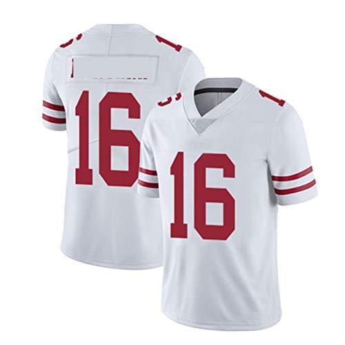 WHUI Jersey de Rugby para 49ers, Camisas atléticas para Hombres, Transpirable y Secado rápido, Adecuado para Entrenamiento Diario, Blanco XXL-16