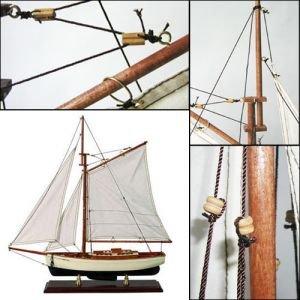 Authentic Models – Schiffsmodell, Segelyacht Wanderer- detailgetreue Nachbildung – Handarbeit - 2