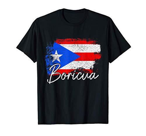 Puerto Rico Boricua Vintage Puerto Rican Flag Pride T-Shirt