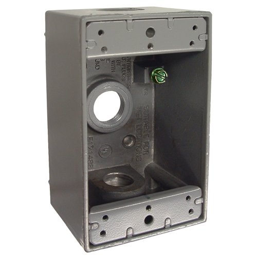 Hubbell-Bell 5320-0 Single Gang 3-1/2-Inch Outlets Weatherproof Box