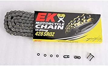 EK Motorcycle Chain Chain 428 SROZ Series Chain - 120 Links - Natural , Chain Type: 428, Chain Length: 120, Color: Natural, Chain Application: All