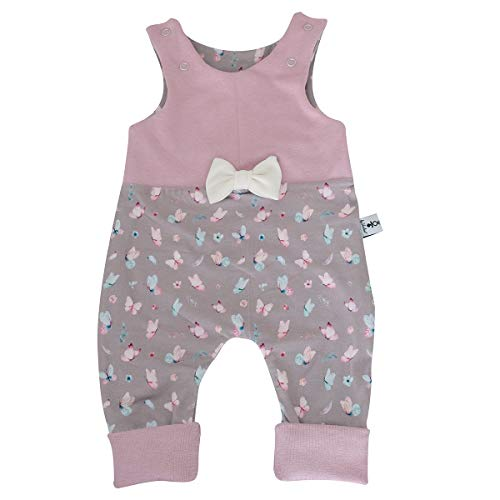 Sharlene Frühling Brombeer Schleifen Strampler Babystrampler Neugeborenen Strampler Mitwachsgrößen Größe 50-62, 68-74 und 80-92 (50-62)