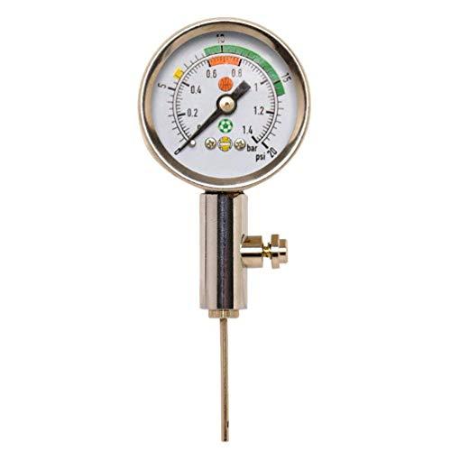 Firelong Ballluftdruckmessgerät Hochleistungsprodukt aus Metall, messen Sie den Luftdruck und passen Sie ihn an, in Fußbällen, Rugby, Basketbällen, Volleybällen und anderen Bällen