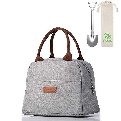 Borsa termica termica per il pranzo con borsa portaoggetti, impermeabile, isolata, borsa termica per lavoro, scuola, picnic (colore F)