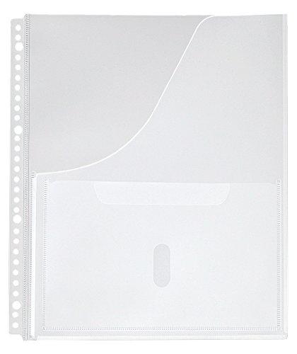 キングジム 取扱説明書ファイル用ポケット 2630P A4S 30穴 4枚