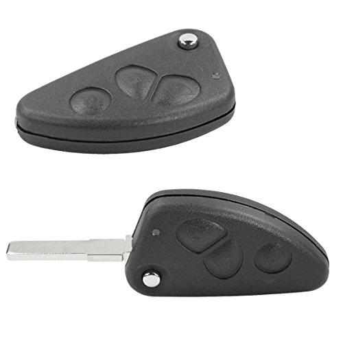 Chiavit AR002 - Carcasa para llave de coche con 3 botones y hoja para Alfa Romeo 147 156 166 GT