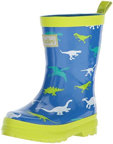 Hatley Printed Rain Boot, Stivali di Gomma Ragazzi, Blue (Dinosaur Menagerie), 20