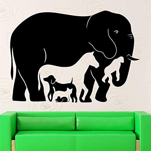 Geiqianjiumai dierencollectie design muursticker grappige muurschilderingen voor familie slaapkamer woonkamer kunst ruimtedecoratie afneembaar behang