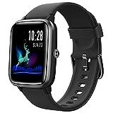 HAFURY Smartwatch, Reloj Inteligente Impermeable Pulsera de Actividad Inteligente con Monitor de Sueño Contador de Caloría Pulsómetros Podómetro para Android iOS (Negro)