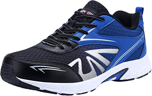 Zapatillas de Seguridad Hombres, LM-1805, Zapatos de Trabajo con Punta de Acero Ultra Liviano Suave y cómodo Transpirable(43 EU,Azul)