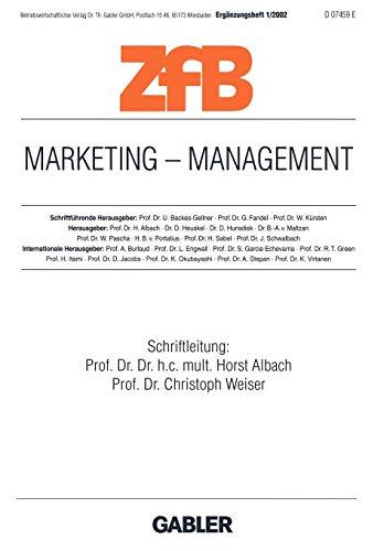 Marketing-Management - ZfB - Zeitschrift für Betriebswirtschaft Ergänzungsheft 1/2002