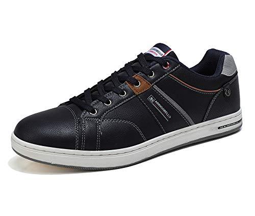 ARRIGO BELLO Zapatos Hombre Vestir Casual Deportivas Zapatillas Sneakers Caminar Correr Deportivas Gimnasio Moda cómodo Viajar Talla 41-46 (Azul, Numeric_45)