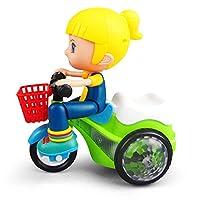 子供の電動回転スタントダイナミックLED照明三輪車モデルのおもちゃの男の子と女の子の贈り物子供の誕生日クリスマスプレゼント