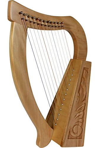 Roosebeck 12-String Celtic Style Baby Harp - Lacewood