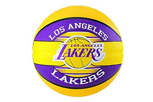 Spalding NBA Team L.A. Lakers Ball 83585Z - Pallone da basket, unisex, 83585Z_5, giallo, 5 EU (5 UK)