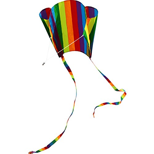 Hengda Kite For Kids 31-Inch Rainbow Parafoil Kite